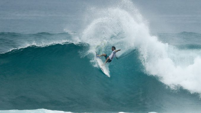 Jordy Smith WINNER of the VANS World Cup of Surfing at Sunst Beach, Hawaii today.